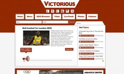 Victorious Joomla Template