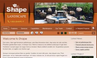 Shape Joomla Template